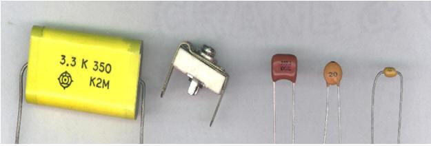 خازن عدسی و الکترولیتی و پلی استر
