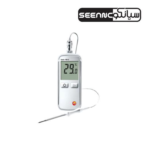 دماسنج موادغذایی ترموکوپل دار دیجیتال تستو  مدل testo 108