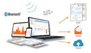 خروجی داده ضامت سنج از طریق بلوتوث و usb با اتصال به نرم افزار ElcoMaster