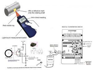 مدار ، سنسور و ماژول دورسنج (مدار راه اندازی سنسور دورسنج موتور )