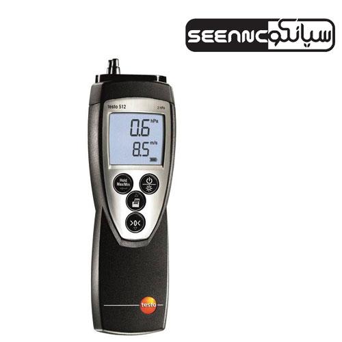 اندازه گیری سرعت جریان و فشار مدل TESTO 512