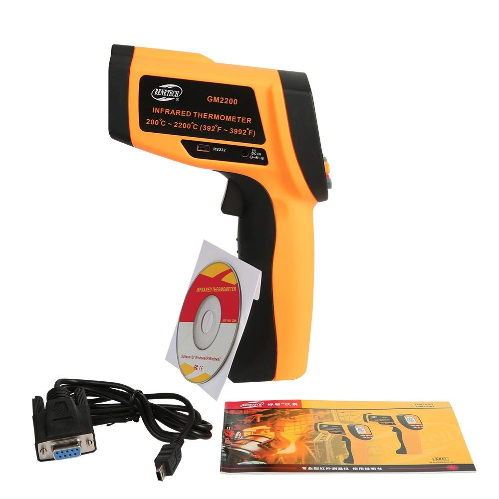 راهنمای کاربری فارسی ترمومتر لیزری بنتک مدل BENETECH GM2200