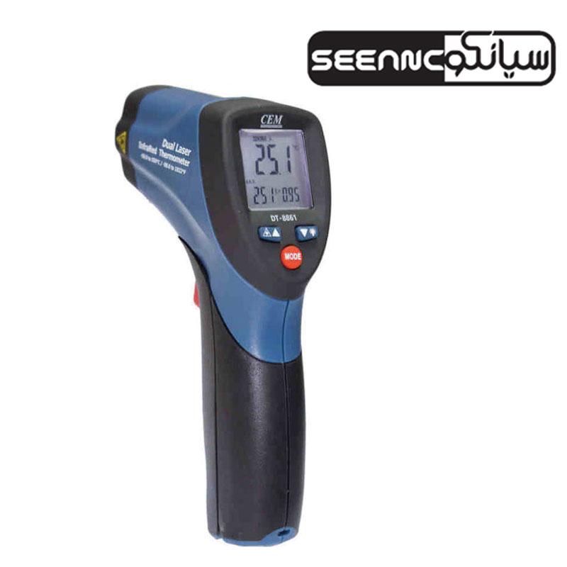 دماسنج ترمومتر لیزری 550 درجه ارزان قیمت مدل CEM DT-8861