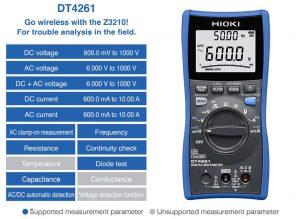 مولتی متر دیجیتال صنعتی مدل HIOKI DT 4261