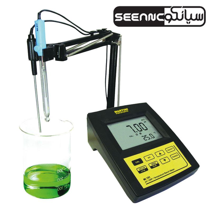 دماسنج و pH متر رومیزی آزمایشگاهی مدل milwaukee Mi150