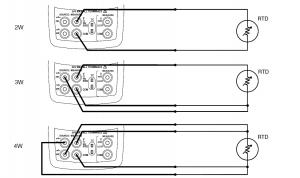 نحوه اتصال انواع RTD های 2 ، 3 و چهار سیمه به کالیبراتور چند منظوره فلوک 726