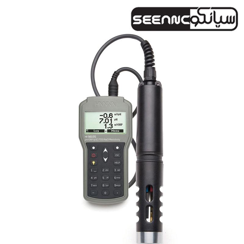 مولتی پارامتر (pH/ORP/ EC/دما/فشار) هاناHANNA HI98195