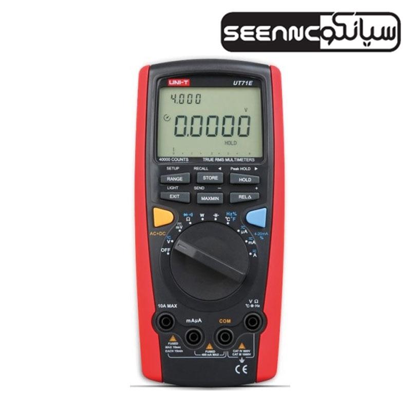 مولتی متر دیجیتال هوشمند و ارزان قیمت یونیتی مدل UNI-T UT71E