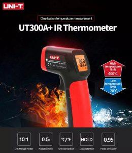 نمایندگی یونیتی، دماسنج تفنگی 400 درجه UNI-T UT300A+