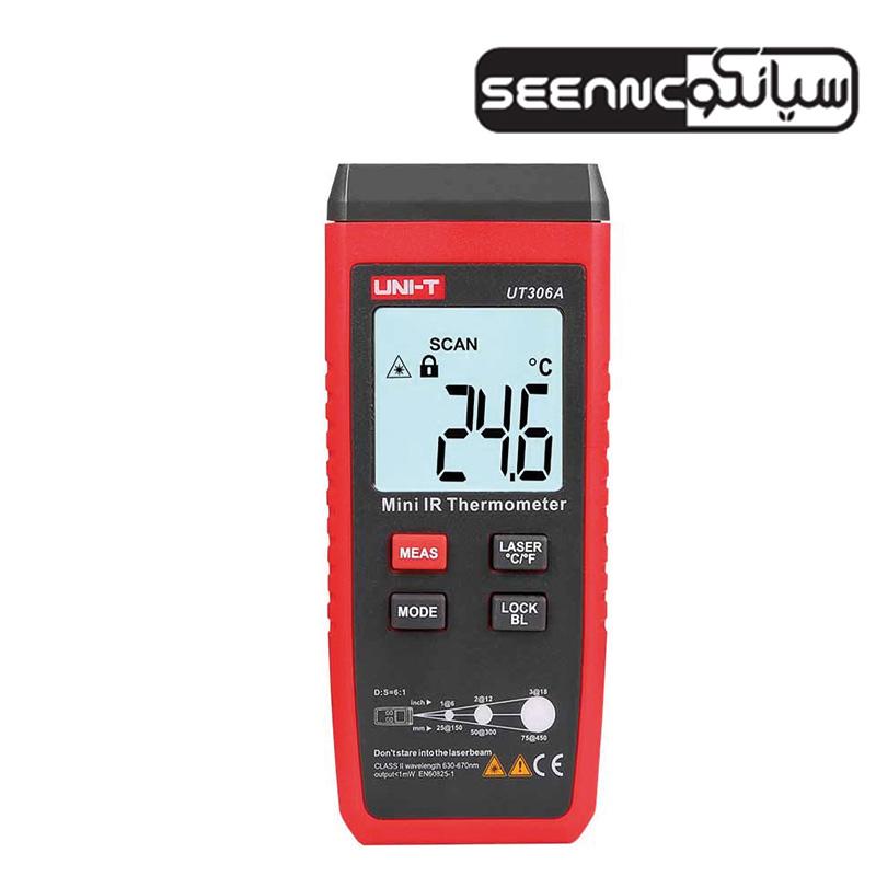 ترمومتر لیزری 300 درجه  یونیتی مدل UNI-T UT-306A