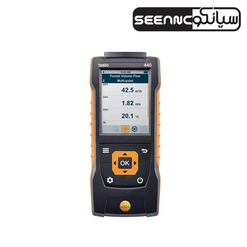 دستگاه سنجش کیفیت و سرعت هوا تستو مدل testo 440