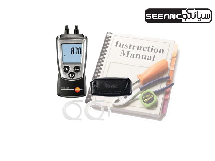 راهنمای کاربری فشار سنج دیجیتال TESTO 510